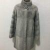 Silver-Grey-Sapphire Coat Mink Fur