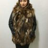 Matilda Vest with Hood Fox Fur