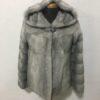 Silver-Grey Sapphire Jacket with Hood Mink Fur